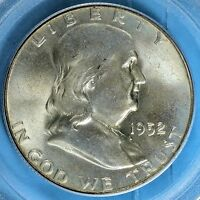 1952 FRANKLIN HALF DOLLAR PCGS MS65FBL  NICE SURFACES TONE