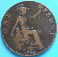 1910 UK EDWARD V11 PENNY RC1633