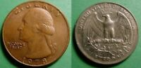 1978 WASHINGTON QUARTER OBVERSE MISSING CLAD LAYER CHOICE AU ABOUT UNCIRCULATED