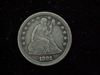 1891 LIBERTY SEATED QUARTER   FULL FEATHERS   UNITED STATES  SEE PICTURES