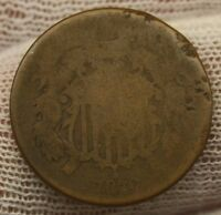 1870 TWO CENT PIECE X131 UNITED STATES HISTORICAL 2 C COPPER TYPE COIN