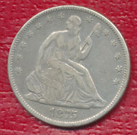 1875 SEATED LIBERTY SILVER HALF DOLLAR VERY NICE CIRCULATED