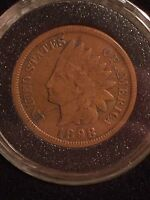 1898 CIRCULATED INDIAN HEAD CENT   IN AIR TITE COIN CAPSULE WITH HOLDER