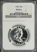 1958 PROOF FRANKLIN HALF DOLLAR NGC PF67 STAR
