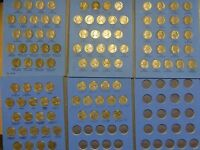 LOT OF 100 JEFFERSON NICKELS 1938 1980 COMPLETE FOLDER SET SILVER COLLECTION