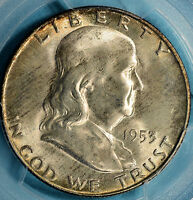 1953 D FRANKLIN HALF DOLLAR PCGS MS65FBL  NICE LUSTER SURFACES TONE