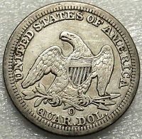 1856 O SEATED LIBERTY QUARTER. FINE/VERY FINE NEW ORLEANS MINT BOLD DATE/MM 548