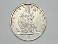 HIGHER GRADE EARLY 1843 SEATED LIBERTY HALF DOLLAR  ONLY 3,844,000 MINTED