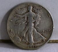 1943-D 50C WALKING LIBERTY HALF DOLLAR,CIRCULATED,AS PICTURED
