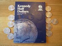 WHITMAN  KENNEDY HALF DOLLARS 1964 1985 COIN BOOK WITH COINS 1990 2001 ADDITION