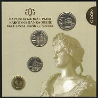 YUGOSLAVIA OFFICIAL CENTRAL BANK MINT SET 2000. 4 COINS 50 PARA 1 2 5 DINARA