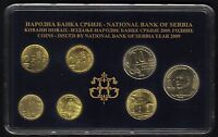 SERBIA OFFICIAL CENTRAL BANK MINT SET 2009. 7 COINS FROM 1 TO 20 DINARA