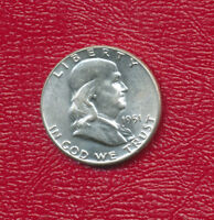 1951 FRANKLIN SILVER HALF DOLLAR BEAUTIFUL UNCIRCULATED HALF