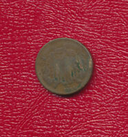 1866 TWO CENT 2 CENT PIECE A  CIRCULATED COPPER TYPE COIN SHIPS FREE