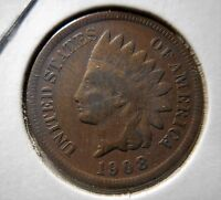 1908 S BN INDIAN CENT VG