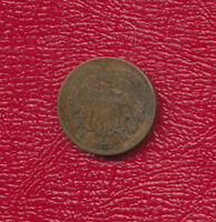 1870 TWO CENT 2 CENT PIECE  CIRCULATED TWO CENT PIECE SHIPS FREE