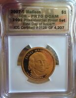 2007-S ICG PR70 DCAM J.MADISON $1 PERFECT GRADE ULTRA LOW FIXED PRICE