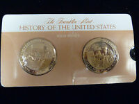 FRANKLIN MINT 1860 & 1861 THE HISTORY OF THE UNITED STATES BRONZE MEDALS