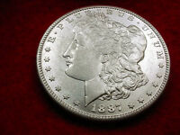 1887-S MORGAN DOLLAR GORGEOUS WHITE BU COIN   6