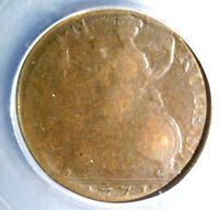 1771 GREAT BRITAIN HALF PENNY COIN  ICG G4  EVASION PIECE  KM 601