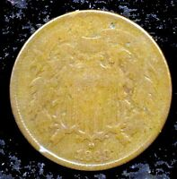 1868 GOOD DETAILS PITTED TWO CENT PIECE - TC39