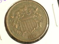 1865 HIGH GRADE DETAILS TWO CENT PIECE --  TYPE COIN       C0530-1