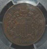 1872 TWO-CENT, PCGS VF-30,  KEY DATE