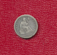 1859 SEATED LIBERTY SILVER QUARTER    CIRCULATED