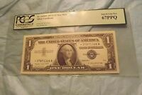 SILVER CERTIFICATE [$1] STAR REPLACEMENT NOTE PCGS 67 PPQ
