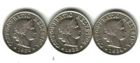 SWITZERLAND LOT 3 COINS 5 RAPPEN 1932/33/34. KM26