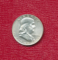 1959 D FRANKLIN SILVER HALF DOLLAR VERY NICE MILDLY CIRCULATED