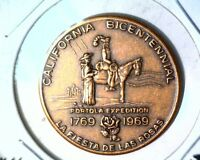 SAN JOSE  CA MEDAL CALIFORNIA BICENTENNIAL MEDAL 1769 1969 PORTOLA EXPEDITION