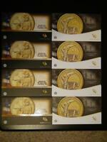 2014 D & 2015 W AMERICAN $1 DOLLAR COIN CURRENCY SETS 4 EACH CONSECUTIVE NUMBERS