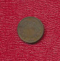 1867 TWO CENT 2 CENT PIECE  CIRCULATED TWO CENT PIECE SHIPS FREE