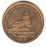 1776 1899 PHILADELPHIA COIN MEDAL HOME OF PHILADELPHIA RECORD INDEPENDENCE HALL