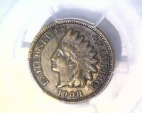 1908 S INDIAN HEAD CENT KEY DATE  PCGS XF45