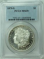 1879 S MORGAN DOLLAR PCGS MINT STATE 65 PLUS  BLAST WHITE MINT STATE 66? US COIN LOT 265