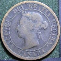 602 1891 CANADIAN COINS LARGE CENT QUEEN VICTORIA