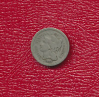 1872 THREE CENT NICKEL 3 CENT PIECE NICE CIRCULATED COIN