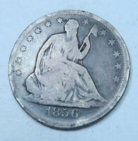 1856 SEATED LIBERTY HALF DOLLAR // VG FINE // H3201