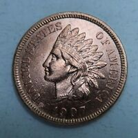 1907 INDIAN HEAD PENNY // GEM UNCIRCULATED BU RED // BLAZER I2403