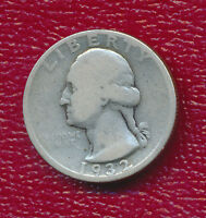 1932 S WASHINGTON SILVER QUARTER KEY DATE NICELY CIRCULATED