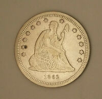 1862 AND 1875 LIBERTY SEATED QUARTERS