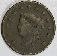 1826 LARGE CENT VF FINE 1C US COIN LOT 752