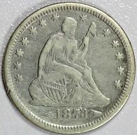 1873 SEATED QUARTER VF DETAILS 25C US COIN LOT 764