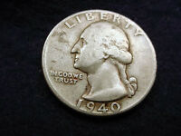 1940 WASHINGTON QUARTER NICE COIN    80
