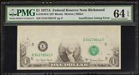1977 A $1 BILL INSUFFICIENT INKING ERROR NOTE CURRENCY PAPER MONEY PMG 64 EPQ