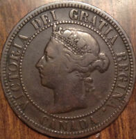 1891 LDLL CANADA LARGE GOOD KEY DATE PENNY IN GOOD CONDITION FREE S/H