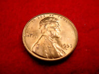 1953-D LINCOLN CENT GREAT BU COIN FROM ORIGINAL ROLL  4