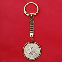 US 2009 NATIVE AMERICAN SACAGAWEA BU UNC $1 GOLD PLATED KEY CHAIN RING NOS
